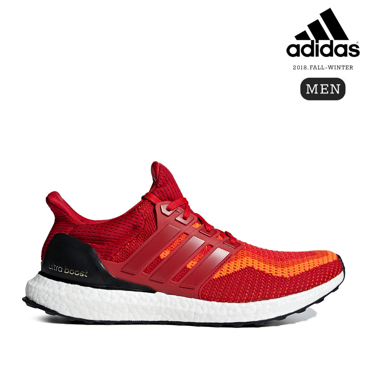 adidas UltraBOOST (Solar Red/Power Red/Core Black) 【メンズサイズ】【18FW-I】【30】【sale0123】