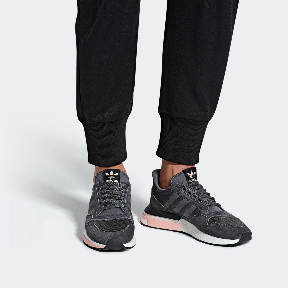 adidas Originals ZX 500 RM (Grey FiveRunning WhiteClear Orange)