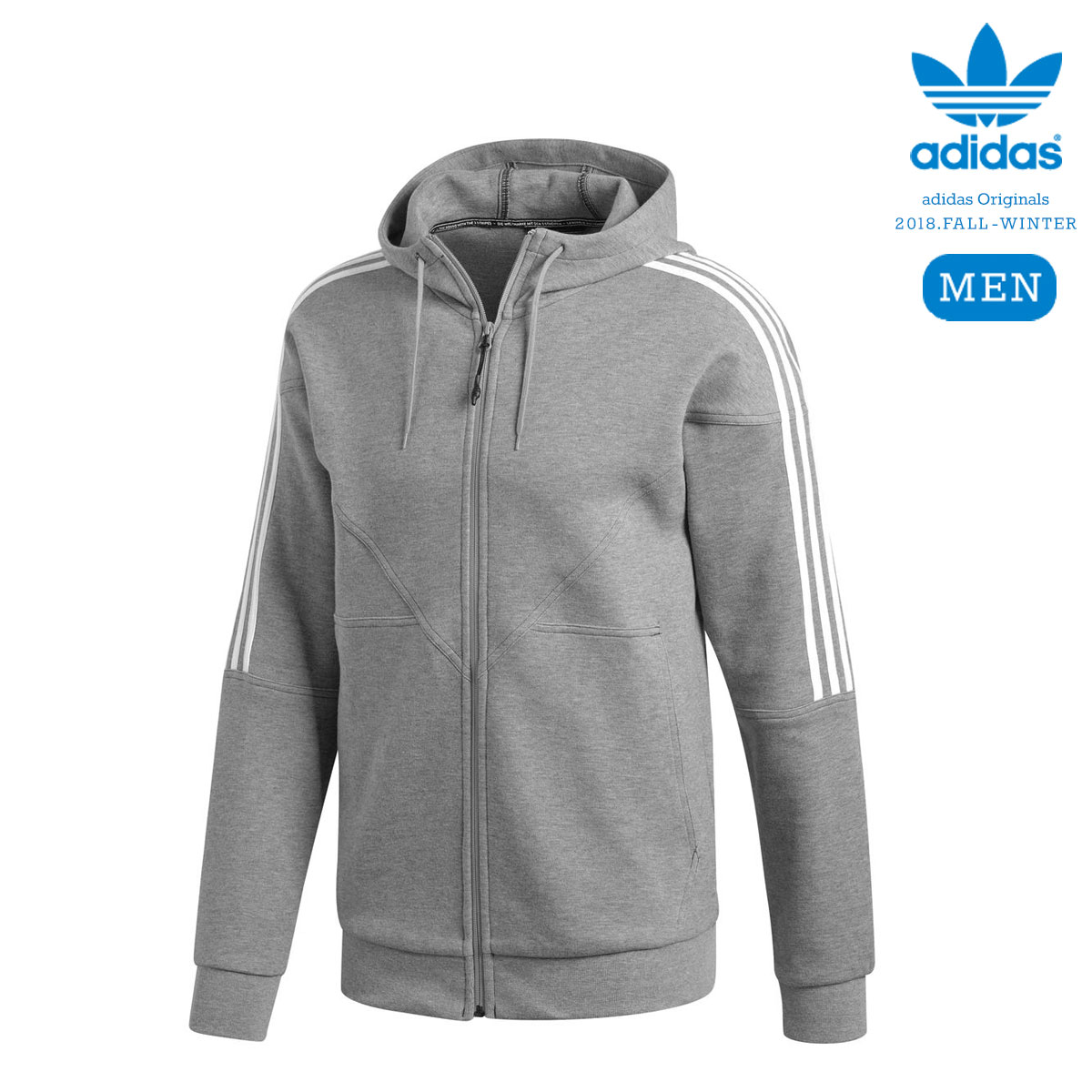 adidas Originals NMD FZ HOODIE (Core Heather) 【メンズサイズ】【18FW-I】