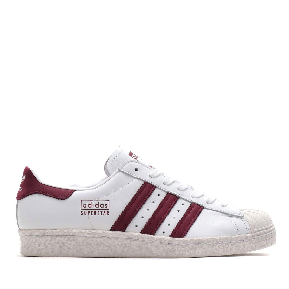best sneakers 7f4f9 9ad67 adidas Originals SUPERSTAR 80s (RUNNING WHITE MAROON CRYSTAL WHITE) (Adidas  original ...