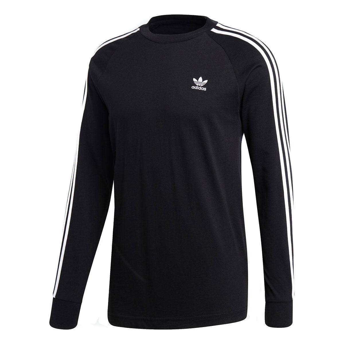 2f3657c038 Kinetics: adidas 3 STRIPES LS TEE (BLACK) (Adidas 3 stripe LS tea ...