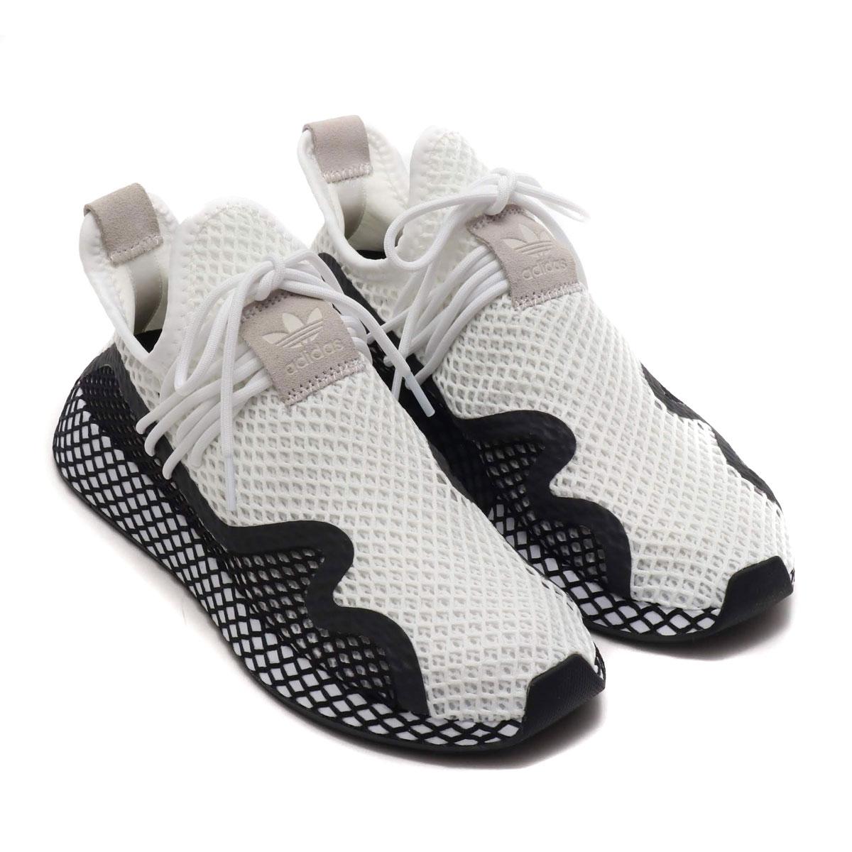 adidas Originals DEERUPT NEW RUNNER(RUNNING WHITECORE BLACKRUNNING WHITE)(??????????? ?????? ??? ????)?????????????19SS I?|Kinetics