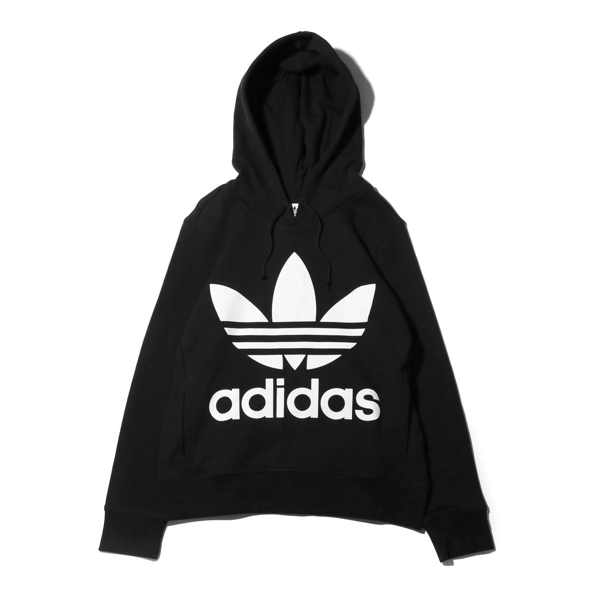 adidas black and white trefoil hoodie