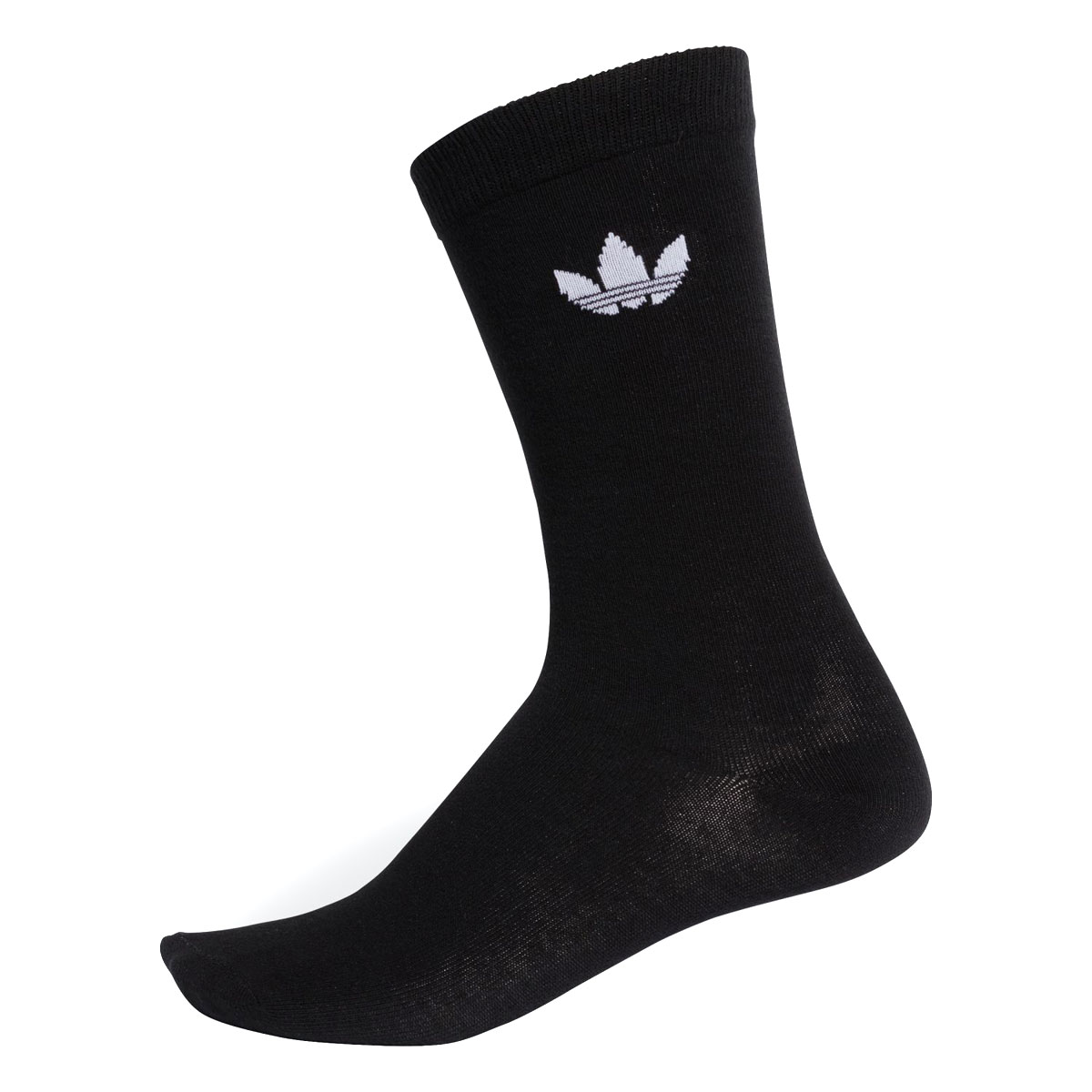 1314281022d702 adidas Originals THIN TREFOIL CREW SOCKS (BLACK WHITE) (Adidas originals  THIN トレフォイルクルーソックス)
