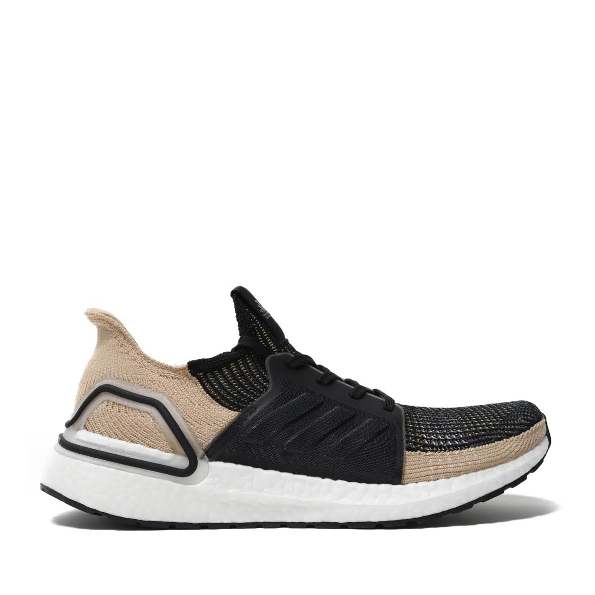 innovative design c01b2 5ee65 Kinetics  adidas UltraBOOST 19 (CORE BLACK RAW SAND GREY SIX ...