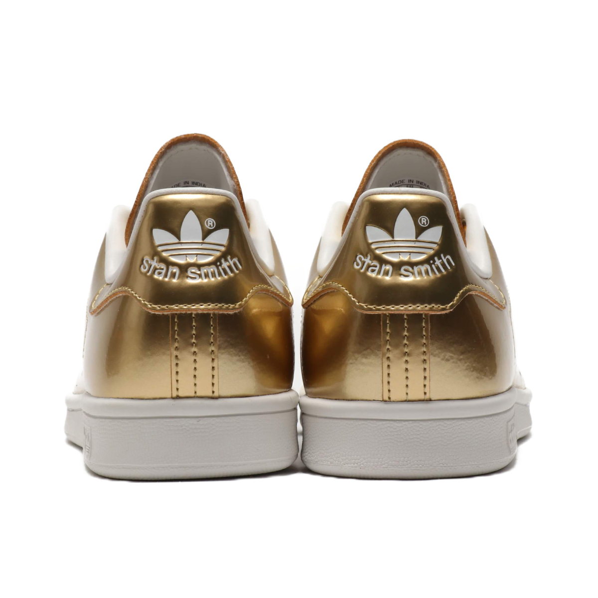 高い素材 adidas STAN SMITH(GOLD METGOLD METCRYSTAL WHITE