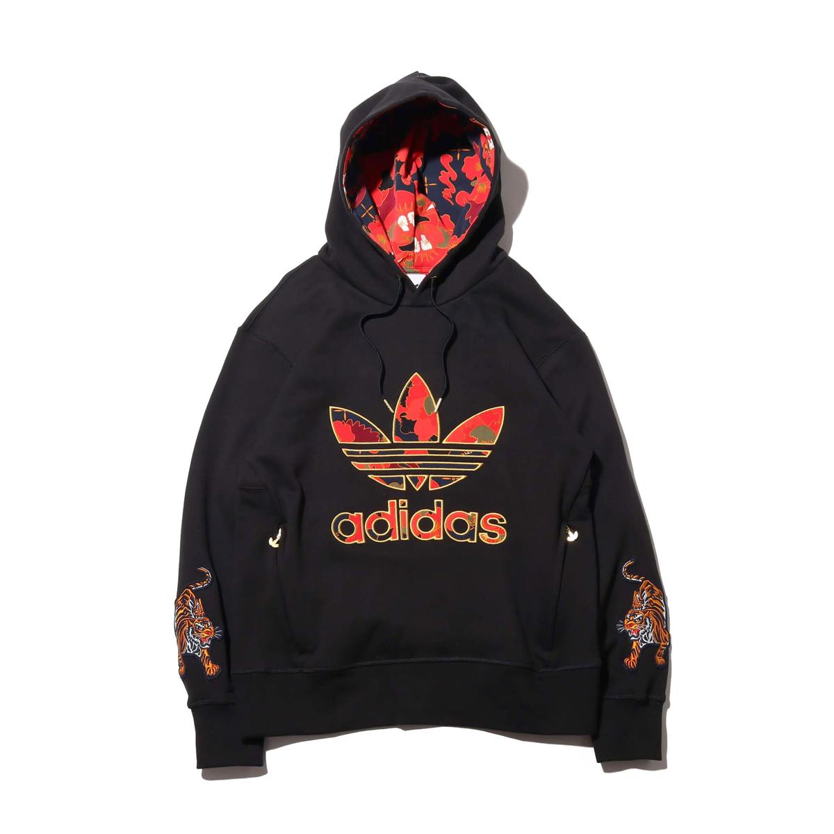 adidas HOODIE CNY(BLACK/GOLD METRIC/MULTI COLOR)(アディダス フーディー チャイニーズニューイヤー)【メンズ】【パーカー】【20SS-I】