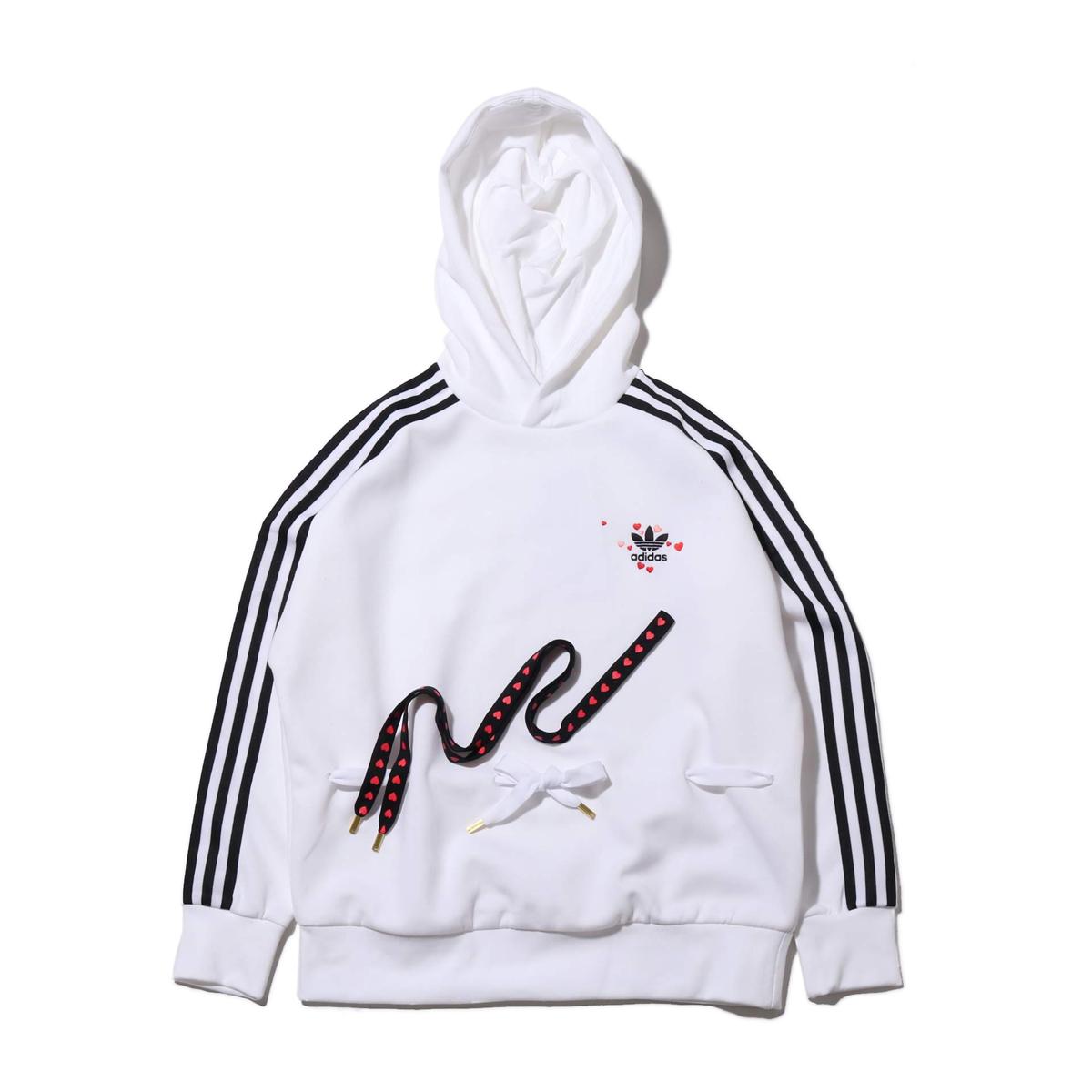 adidas HOODIE(WHITE)(アディダス フーディー)【レディース】【パーカー】【20SS-S】