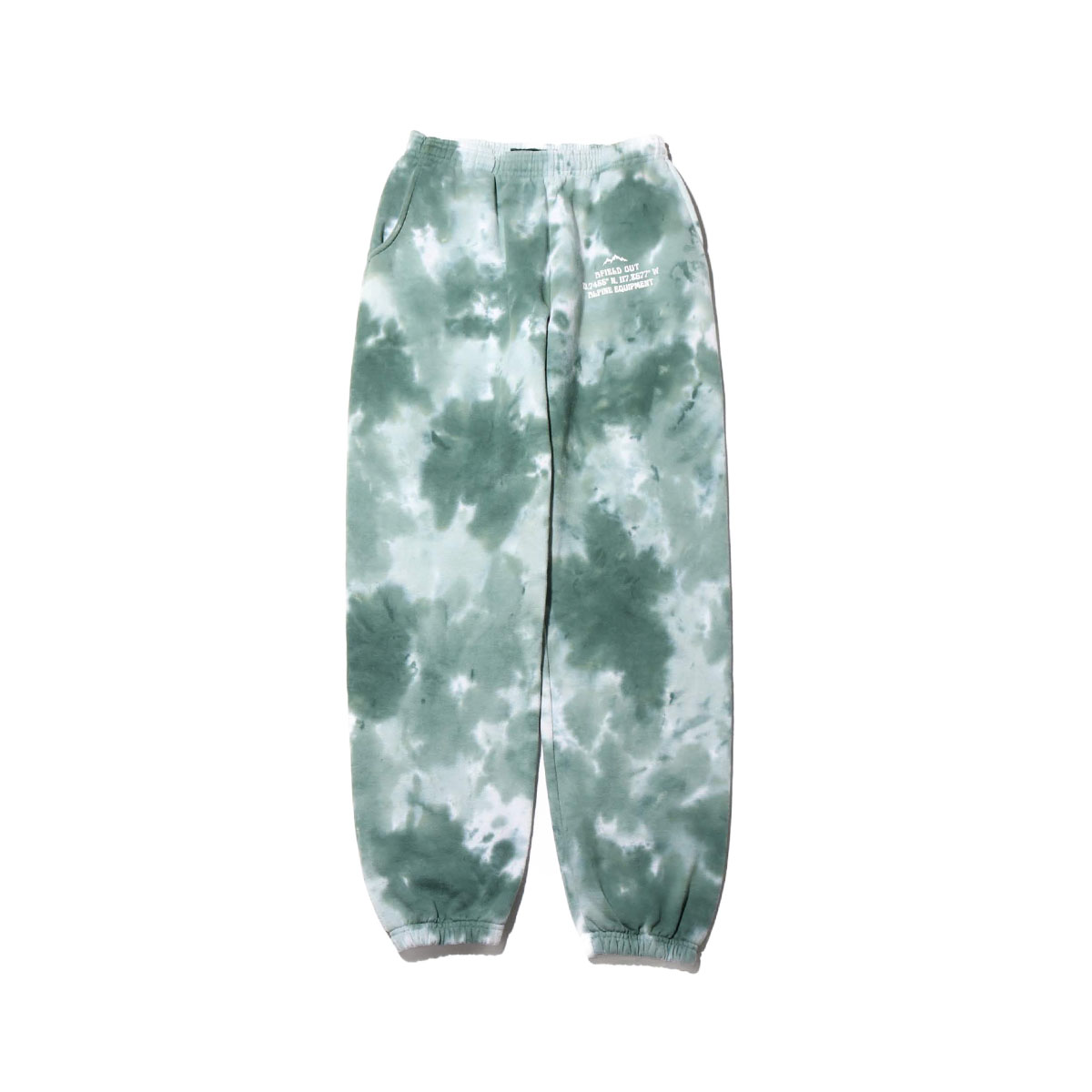 AFIELD OUT TIE DYE SWEAT PANTS(Green Tie Dye)(アフィールドアウト タイダイ フーディ スウェットパンツ)【メンズ】【ロングパンツ】【20SU-I】