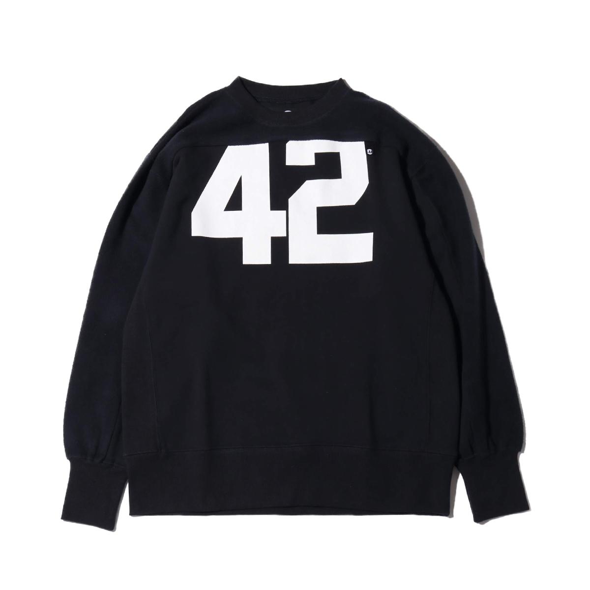 ATMOS LAB FOOTBALL SWEAT (BLACK) (atto MOS laboratory football sweat shirt)
