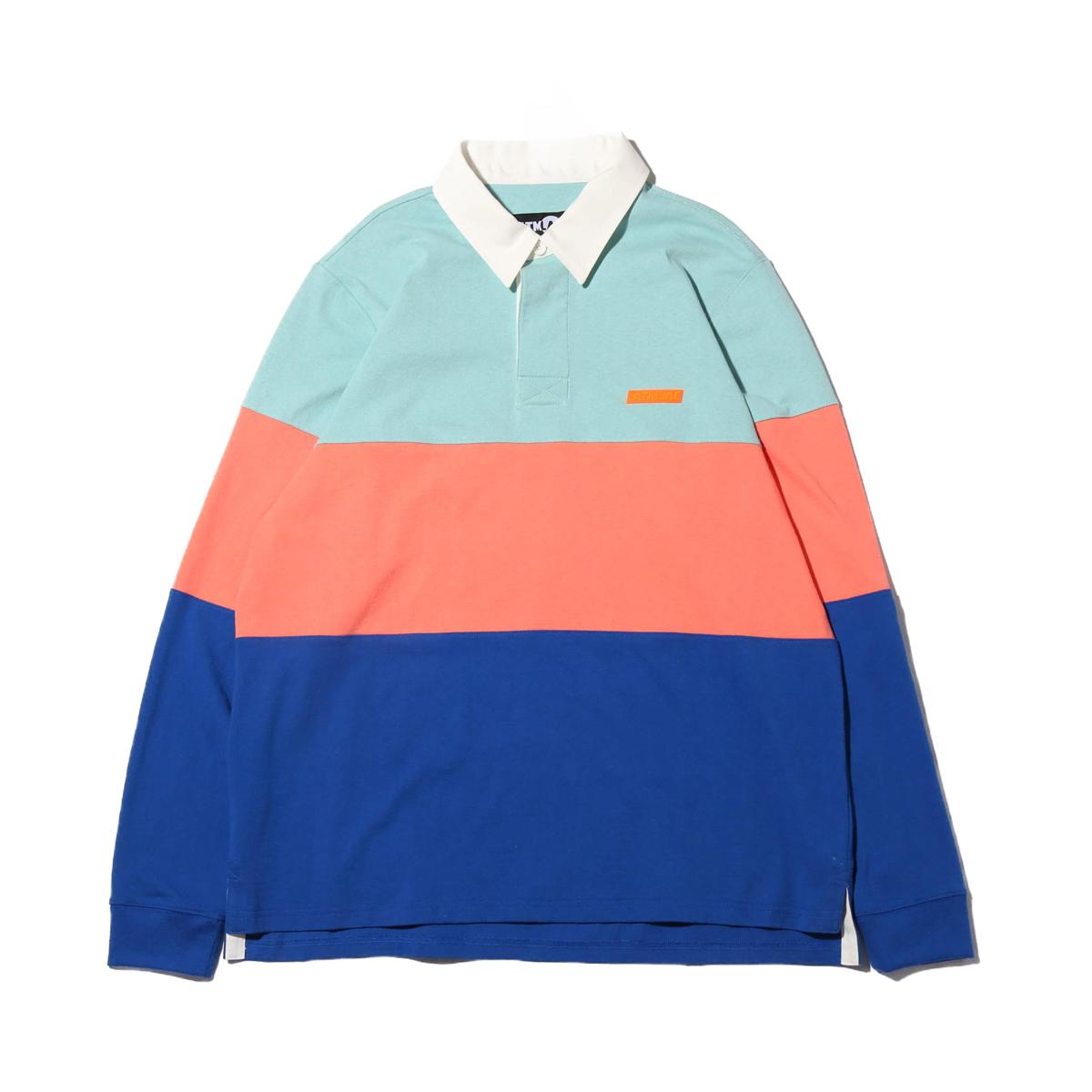 ATMOS LAB RUGBY SHIRT(BLUE)(アトモスラボ ラグビー シャツ)【メンズ】【長袖Tシャツ】【19SP-I】