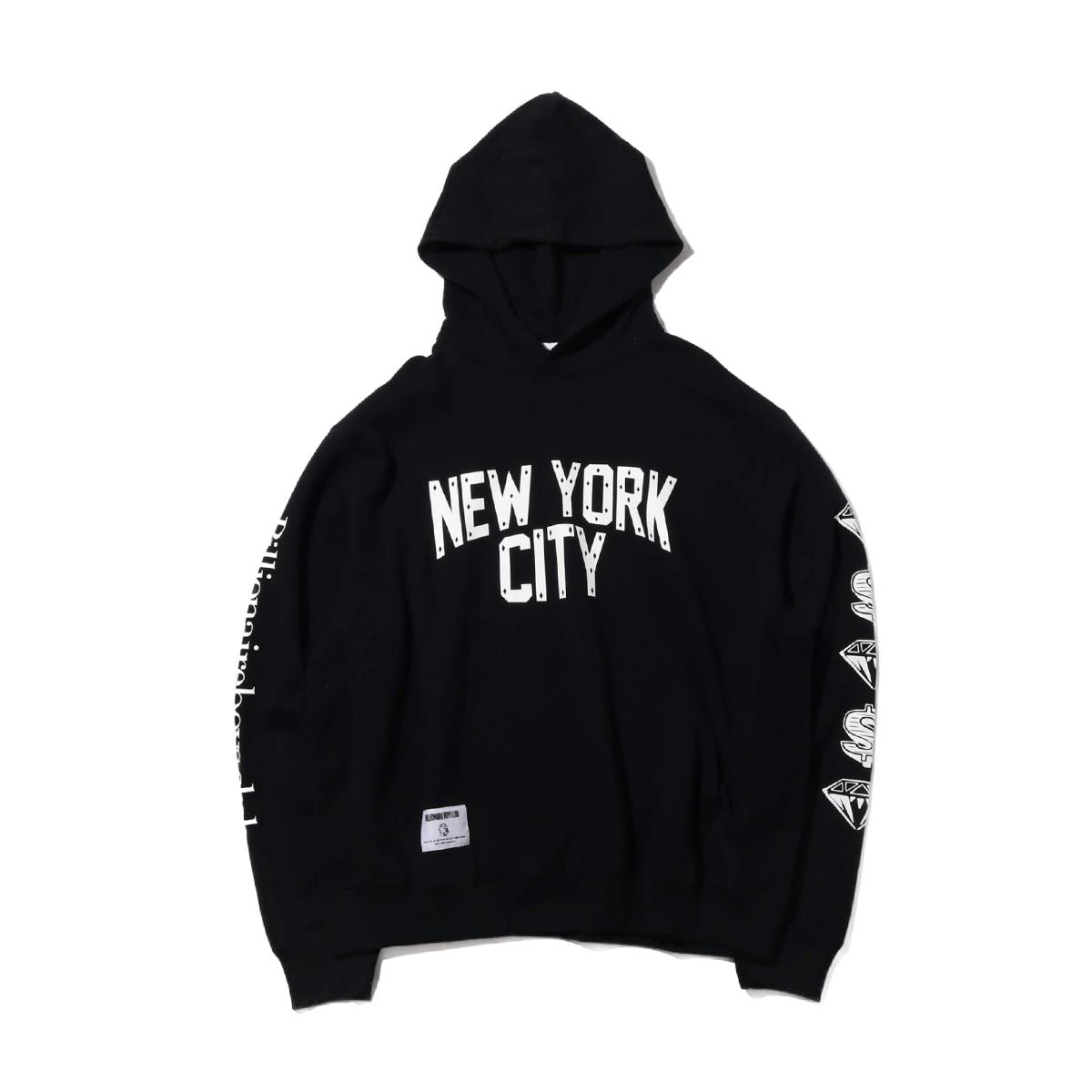 BILLIONAIRE BOYS CLUB NEW YORK CITY HOODIE(BLACK)(ビリオネアボーイズクラブ ニューヨークシティ フーディ )【メンズ】【パーカー】【19FA-I】