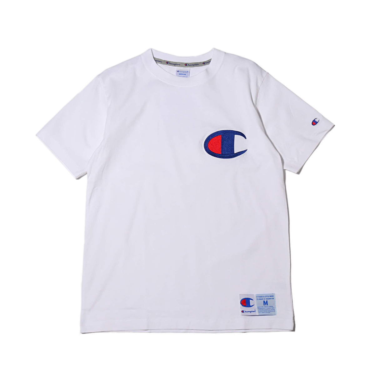 dd981050 Kinetics: Champion T-SHIRT (WHITE) (champion T-shirt) | Rakuten ...