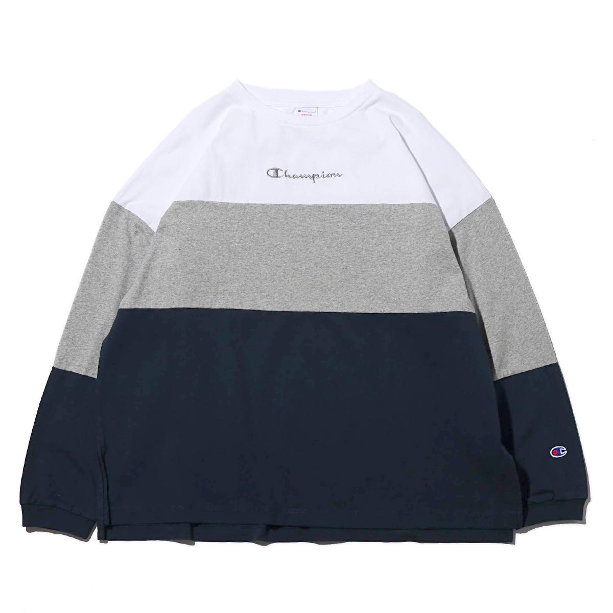 Champion LONG SLEEVE T-SHIRT (WHITE)(チャンピオン ロングスリーブ ティーシャツ)【メンズ】【長袖Tシャツ】【19SP-I】