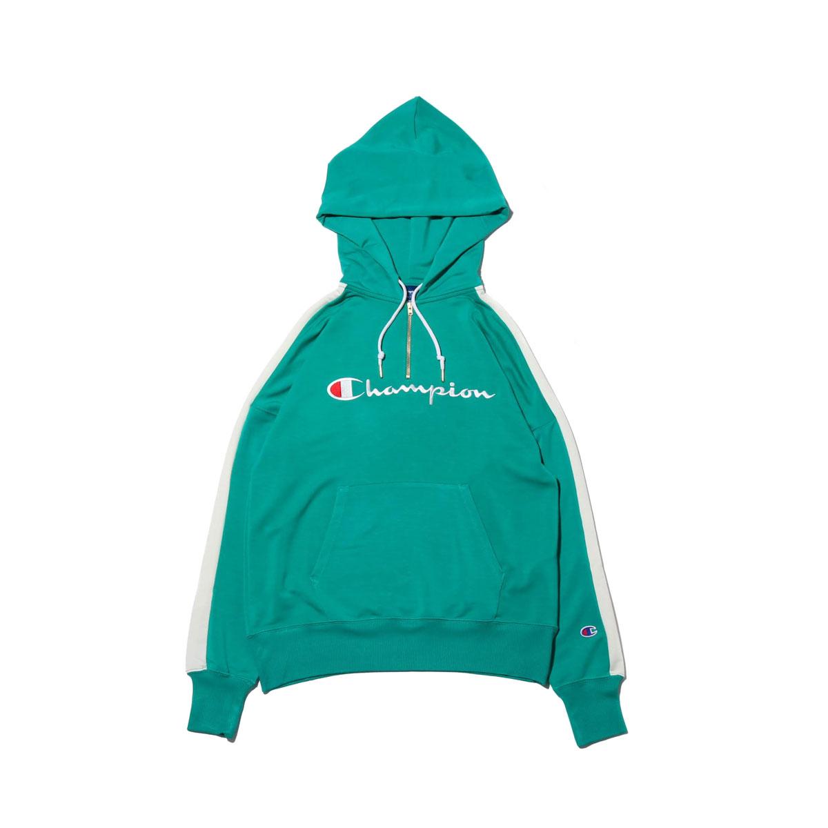 66096b1b Champion HALF ZIP HOODED SWEATSHIRT (champion half zip food shirt) (KELLY  GREEN) ...