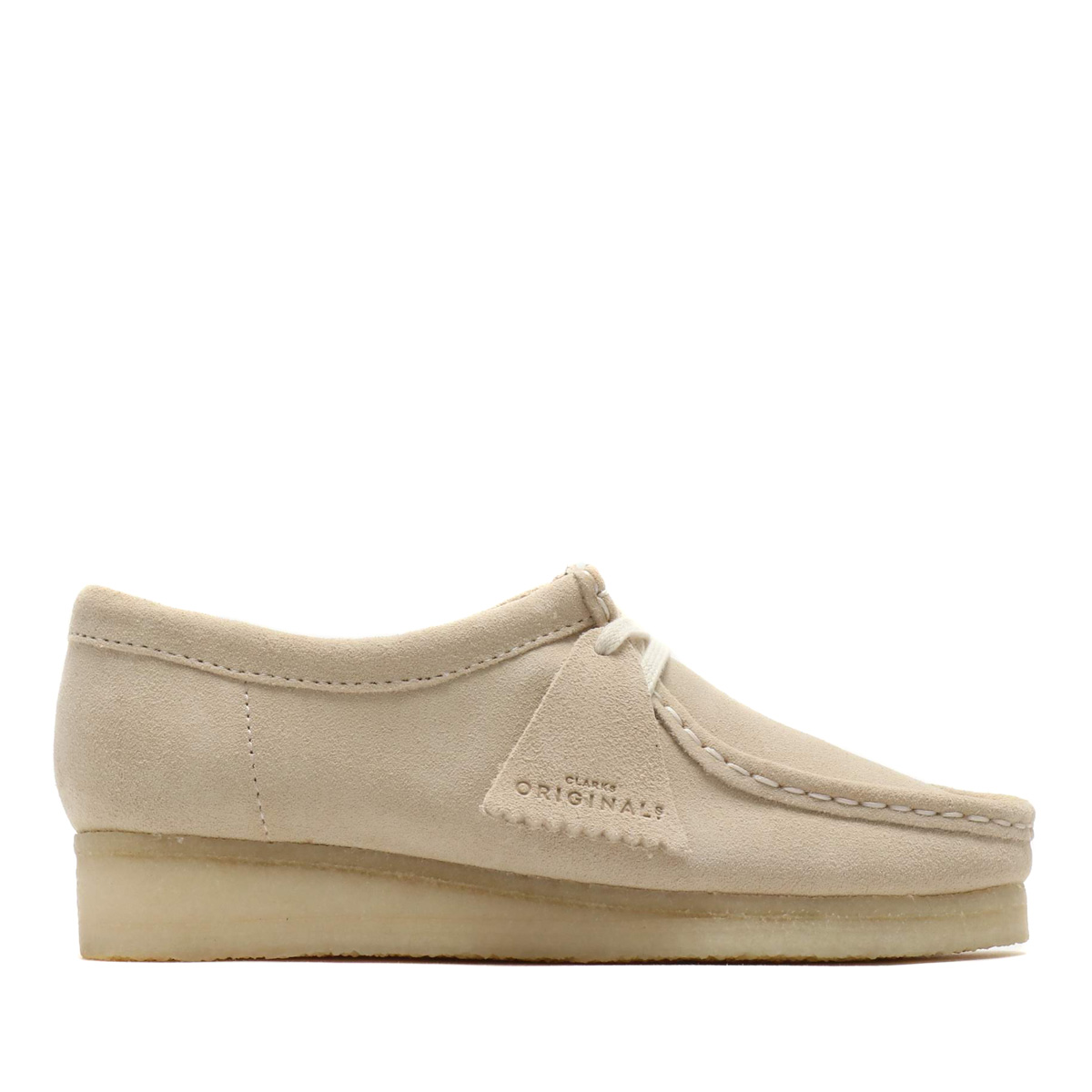 Clarks Wallabee(Off White Suede)(クラークス ワラビー)【レディース】【モカシン】【19SP-I】
