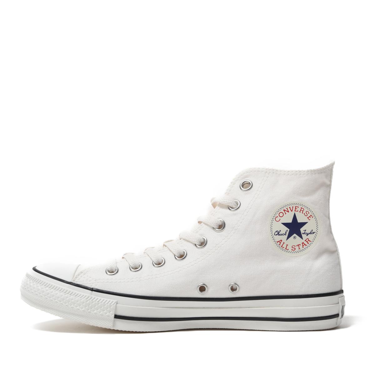 オールスター 【CONVERSE】 ウォッシュドキャンバス ハイ コンバース ALL STAR WASHEDCANVAS HI 31300172 WHITE