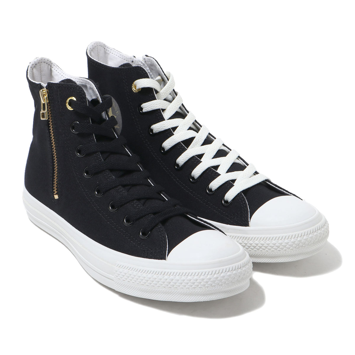 CONVERSE ALL STAR GOLDZIP HI (BLACK) (Converse all stars gold zip 2 high)