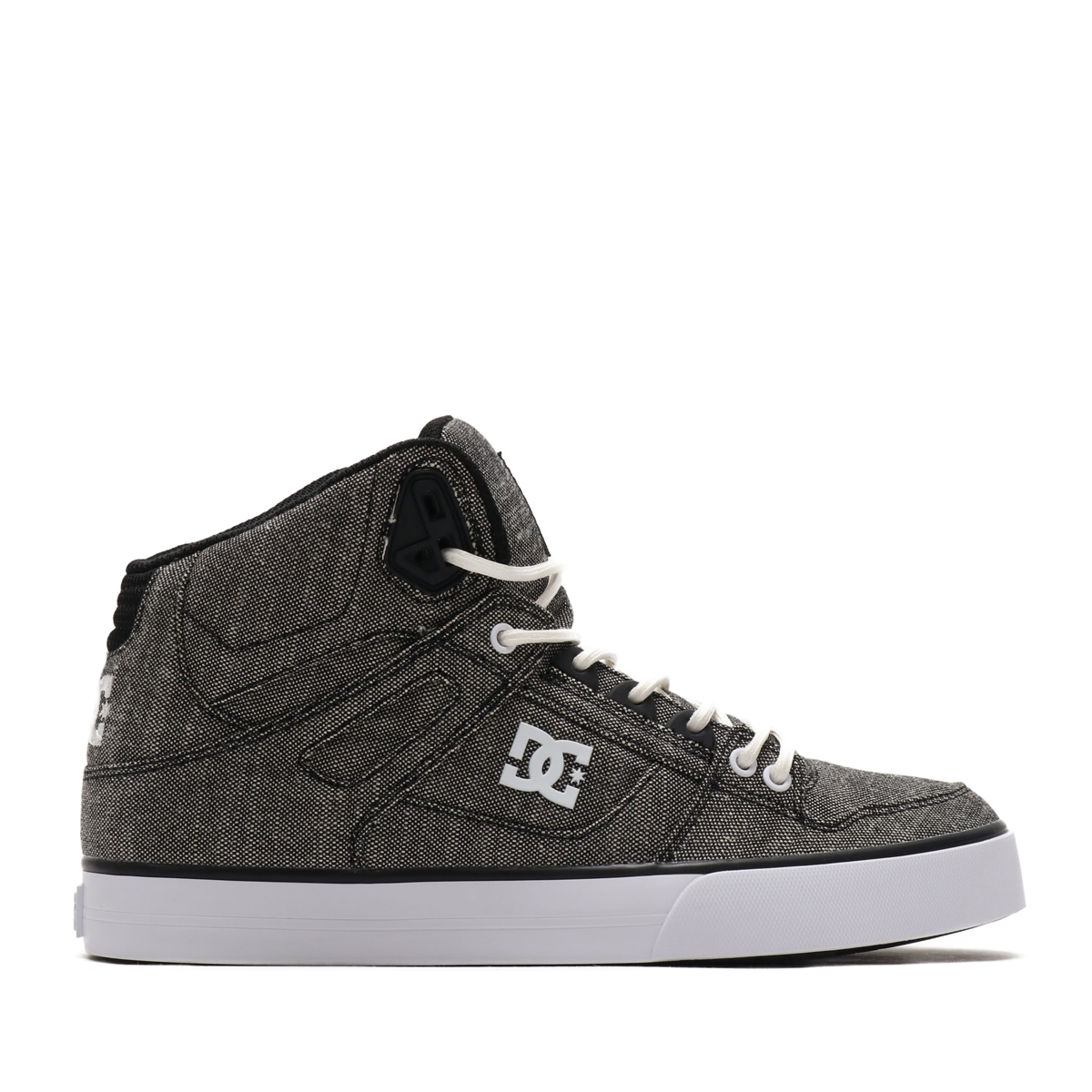 eb4adf5294 DC SHOES PURE HIGH-TOP WC TX SE (BLACK HEATHER GREY) (D sea shoes pure high- top double sea tea X S E)