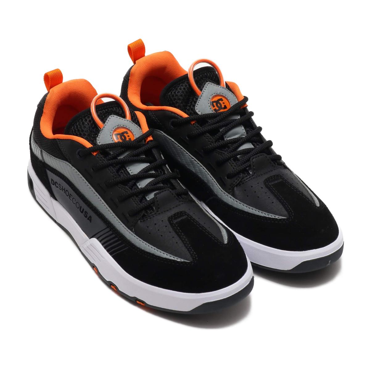 ef4714818a07fb Kinetics: DC SHOES LEGACY 98 SLIM S (BLACK/ORANGE/GREY) (D sea shoes ...