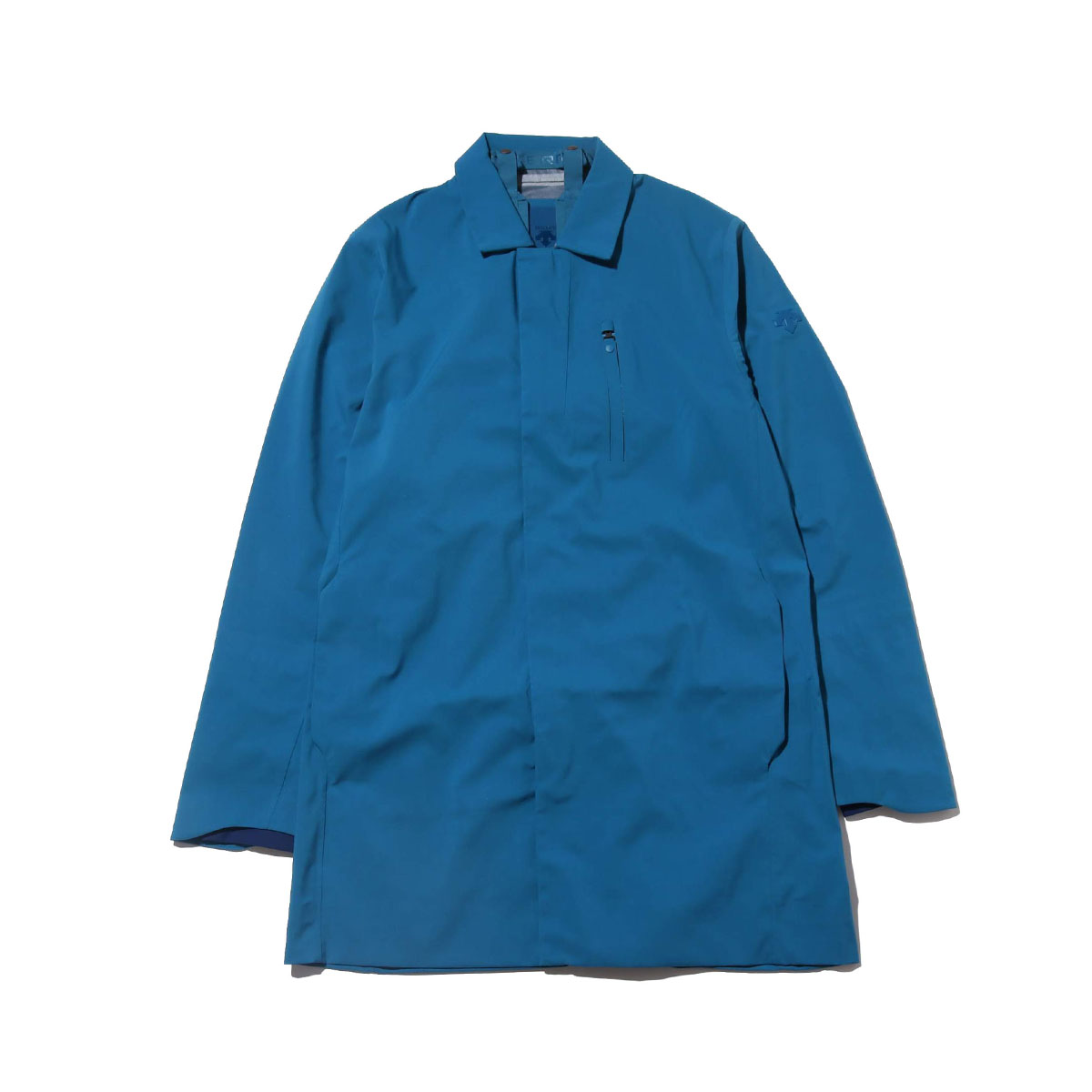 DESCENTE ALLTERRAIN HARD SHELL BAL COLLAR COAT(BLUE ACID)(デサント オルテライン ハード シェル ステンカラー コート)【メンズ】【コート】【18FA-I】