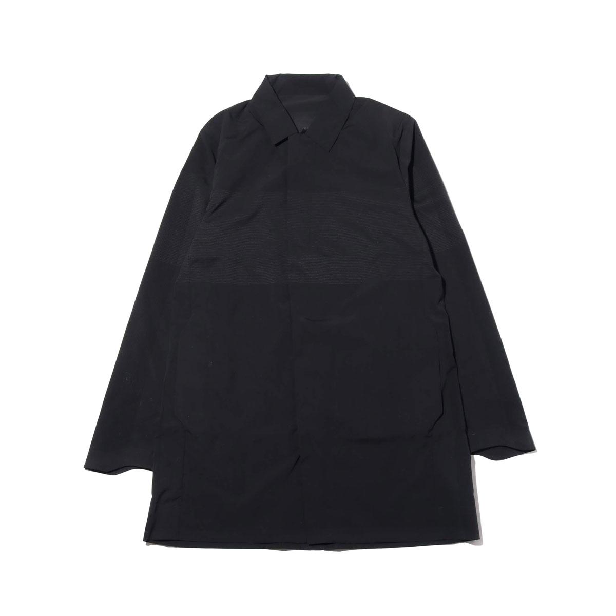 DESCENTE ALLTERRAIN SCHEMATECH AIR BAL COLLAR COAT(BLACK)(デサント オルテライン スキーマテックエアー バルカラーコート)【メンズ】【コート】【19SP-I】