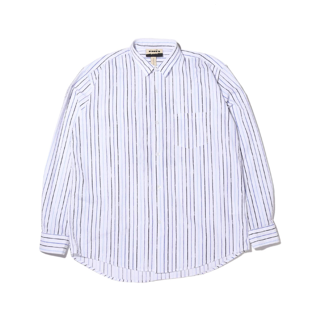 DIADORA PAURA LOGO SHIRT(OPTICAL WHITE)(ディアドラ パウラロゴシャツ)【メンズ】【半袖Tシャツ】【20SP-S】