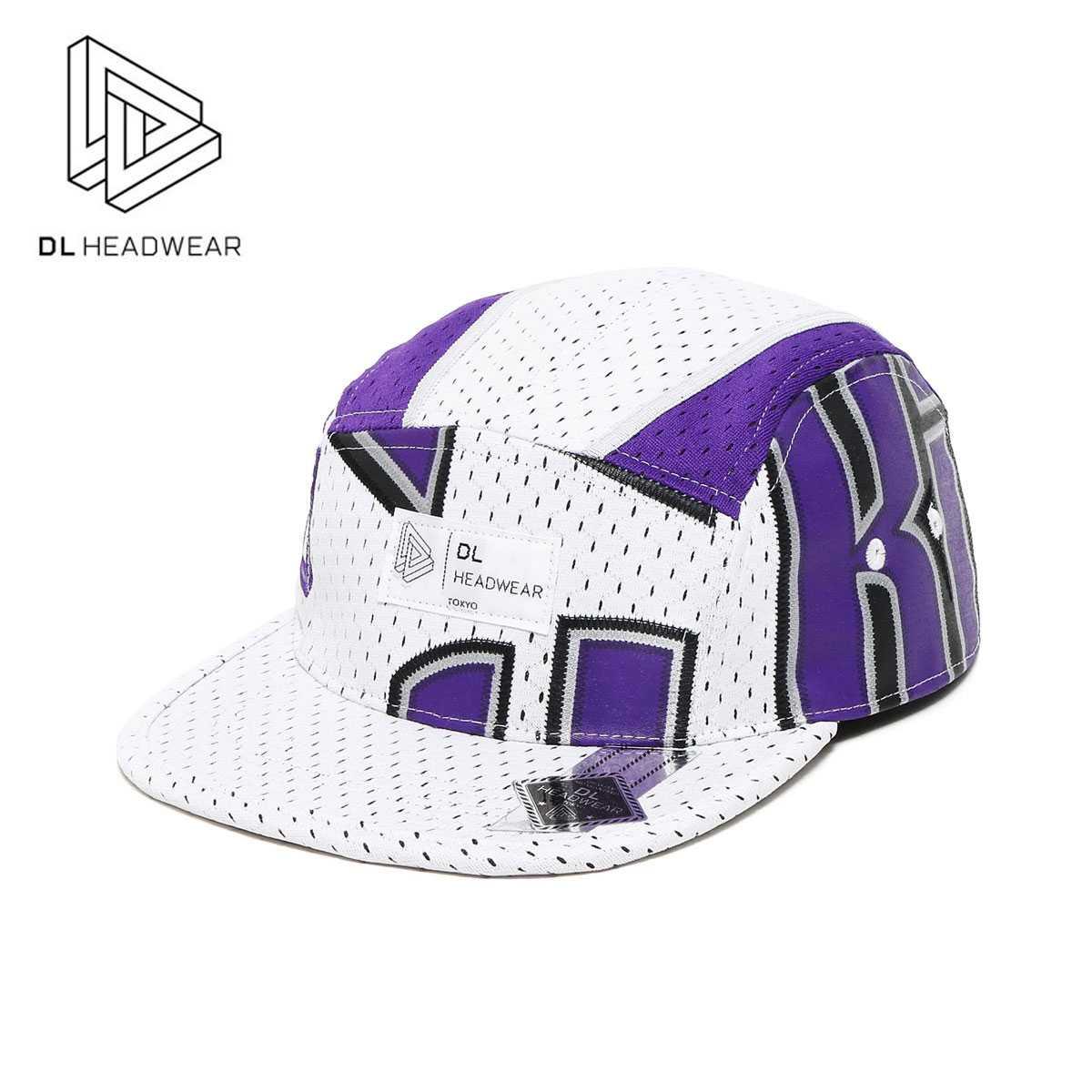 DL Headwear Alpha 5Panel Camp Cap Made by vintage NBA Jersey(Chris Webber /Sacramento Kings)(ディーエル ヘッドウェア アルファ ファイブパネルキャンプキャップ / クリス・ウェバー)【Kinetics】【NBA】【バスケットボール】【帽子】【17SS-I】