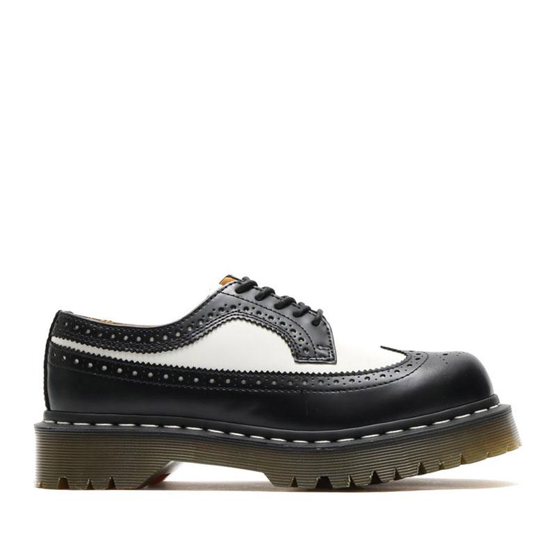 Dr.Martens 3989 BROGUE SHOE(BLACK&WHITE)(ドクターマーチン 3989 ブローグ シューズ)【メンズ】【レディース】【ブーツ】【18FW-I】