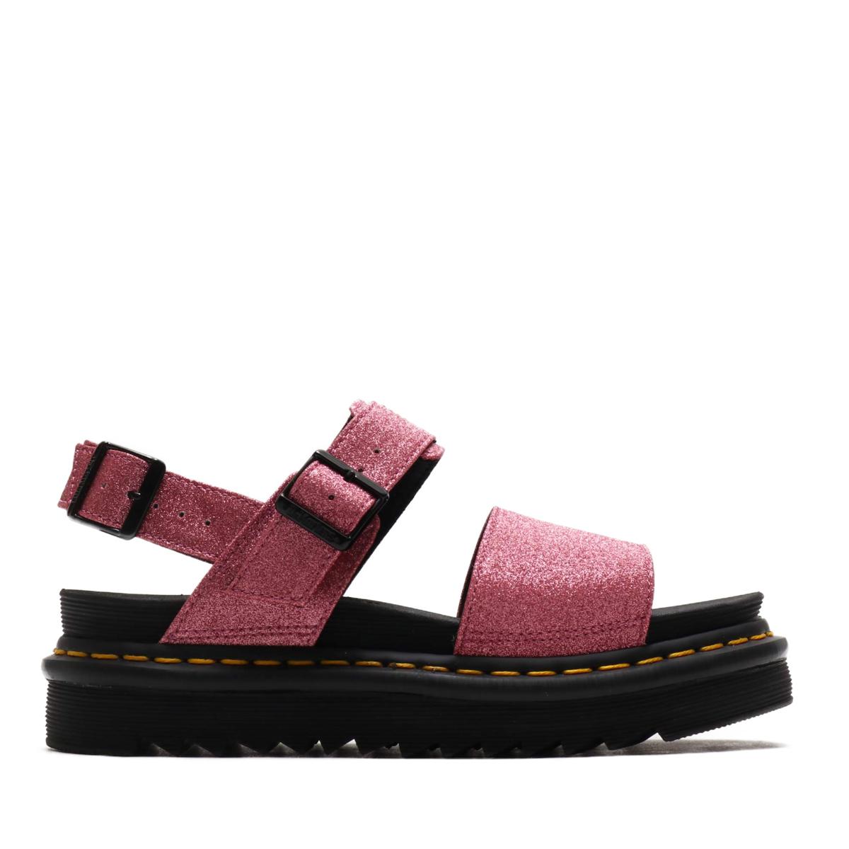 Dr.Martens Voss Strap Sandal(Pink Fine Glitter Pu)(ドクターマーチン ボス ストラップ サンダル)【レディース】【サンダル】【19SS-I】