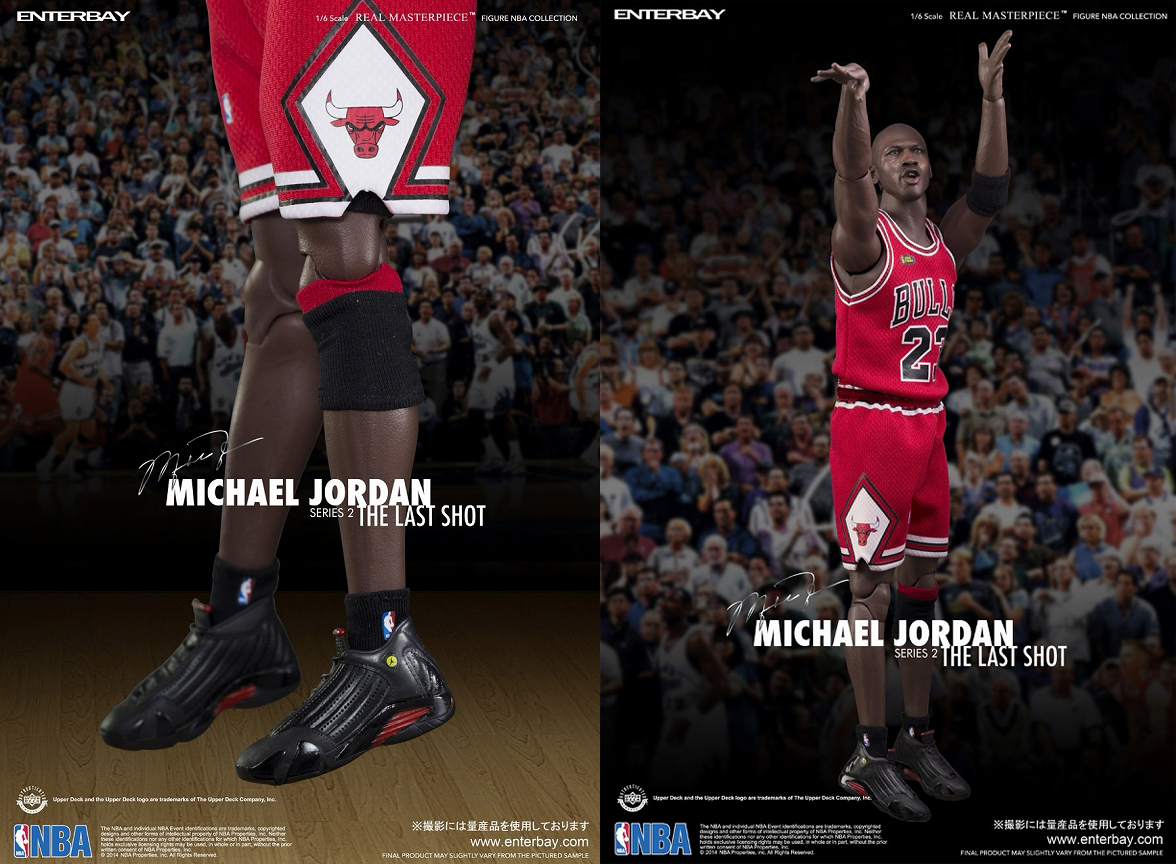"ENTERBAY 1 / 6 规模迈克尔 · 乔丹系列 2""最后一个镜头 # 23""路泽西版 (湾 1 / 6 规模 Michael Jordan 系列 2""最后一枪 # 23""路统一版)"