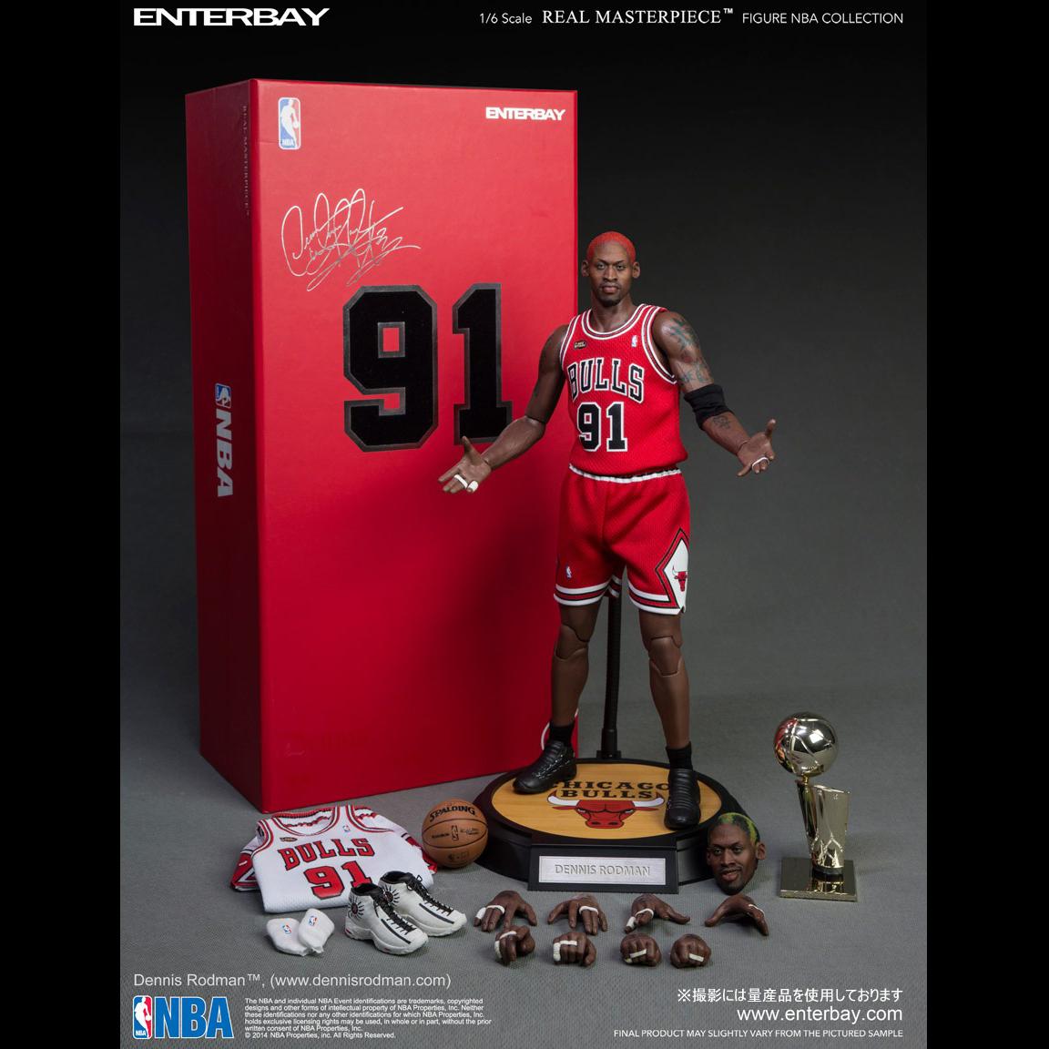 ENTERBAY 1 / 6 比例真正的杰作 NBA 集合丹尼斯 · 罗德曼 (湾 1 / 6 规模真正的杰作 NBA 集合丹尼斯 · 罗德曼)
