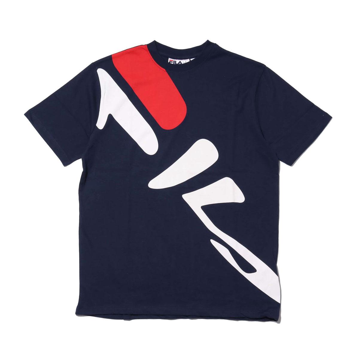 FILA MARCEL TEE(NAVY)(フィラ マルセル ティ)【メンズ】【Tシャツ】【18SS-I】