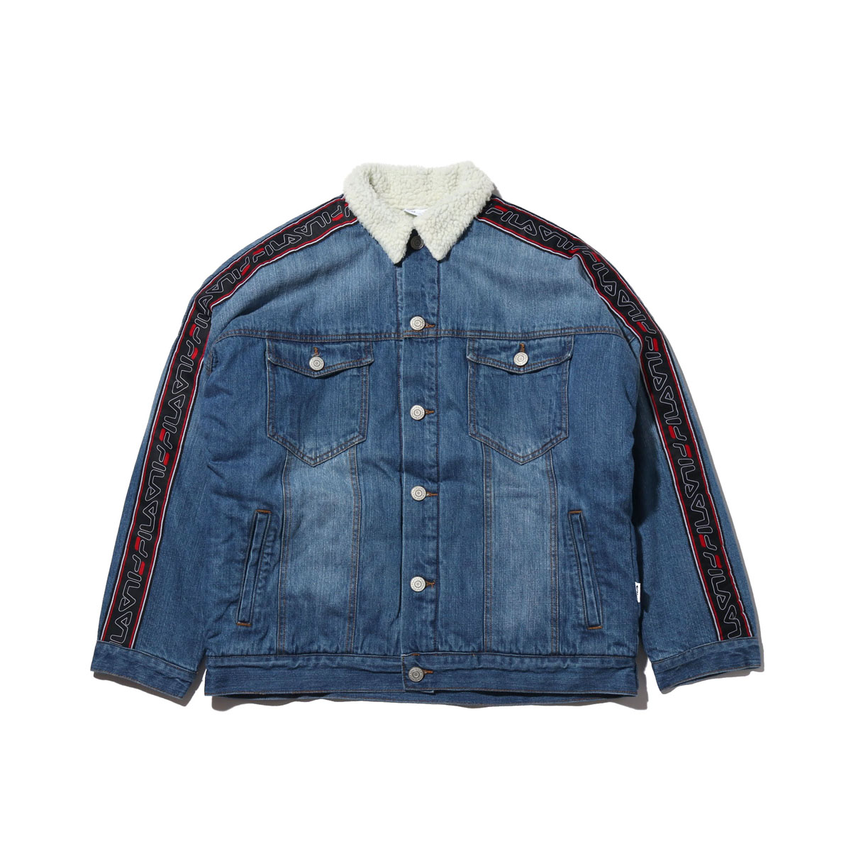 FILA Denim boa Jacket(NAVY)(フィラ デニム ボア ジャケット)【メンズ】【ジャケット】【18FW-I】