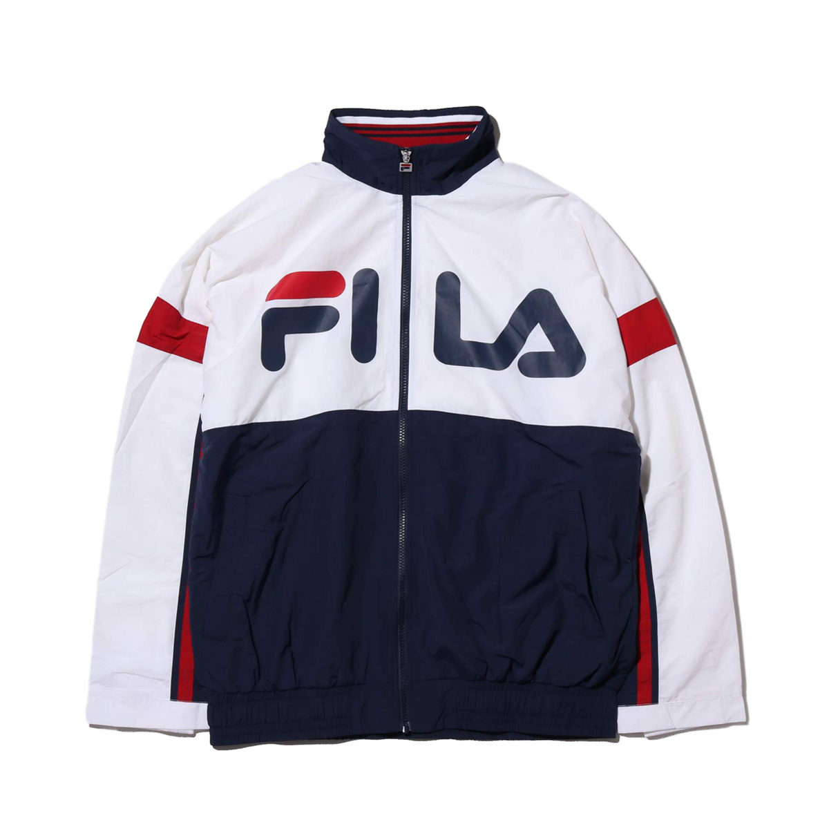 FILA WIND-UP Pullovre jacket(OFFWHITE)(フィラ ウィンドアップ プルオーバ― ジャケット)【メンズ】【ジャケット】【18FW-I】