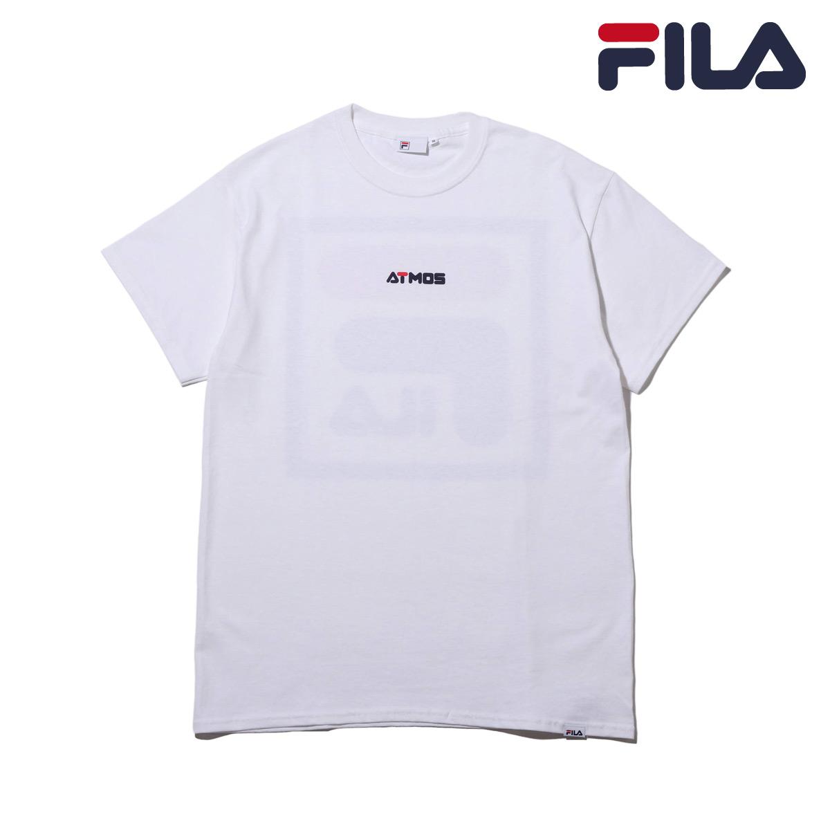 original de premier ordre professionnel section spéciale FILA x atmos Square BIG LOGO T-Shirt (WHITE) (Fila X atto- MOS square big  logo T-shirt)