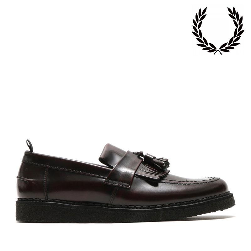 FRED PERRY ×GEORGE COX TASSEL LOAFER LEATHER(フレッドペリー×ジョージコックス タッセル ローファー レザー)OXBLOOD【メンズ】【革靴】【UK】【19SP-I】
