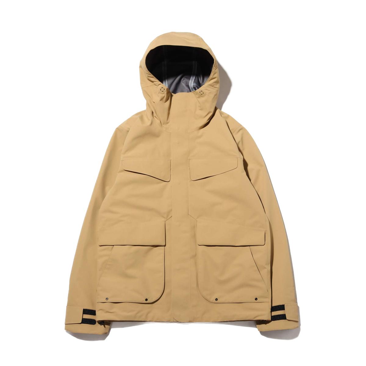 Goldwin GORE-TEX Hooded Mountain Jacket(BEIGE)(ゴールドウィン ゴアテックス フーデッド マウンテンジャケット)【メンズ】【ジャケット】【20SP-I】