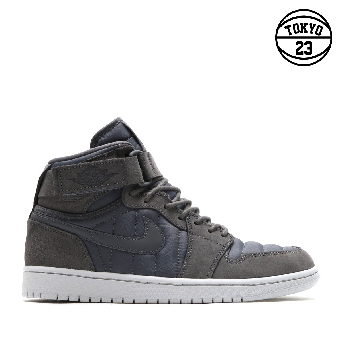 94bd46e5655294 NIKE AIR JORDAN 1 HIGH STRAP (Nike Air Jordan 1 Heiss trap) (DARK GREY DARK  GREY-PURE PLATINUM)