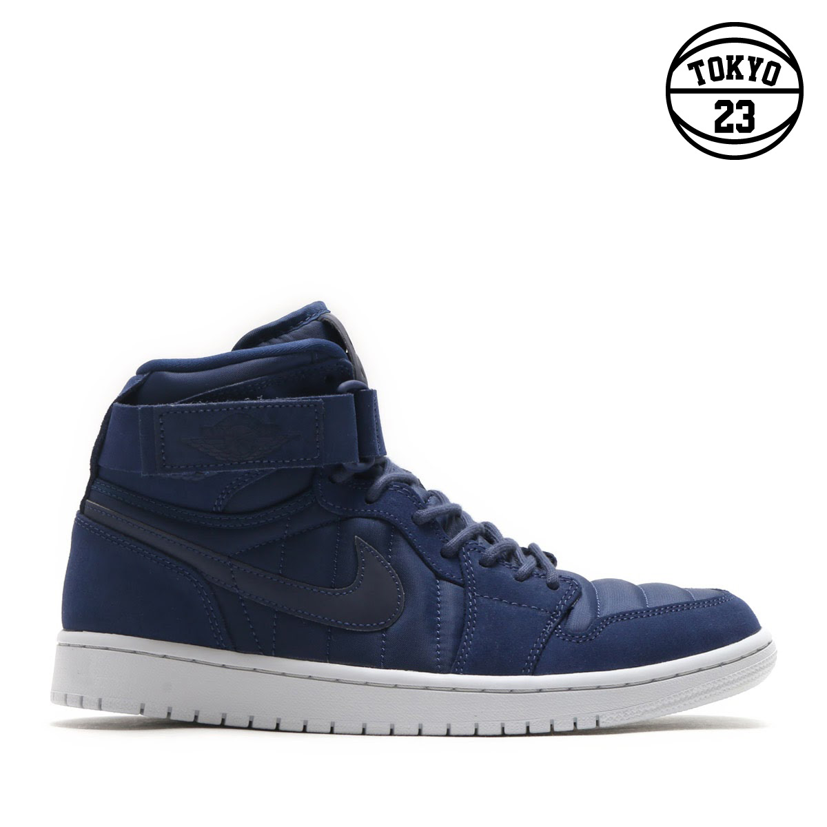 2ffd7aaac2e NIKE AIR JORDAN 1 HIGH STRAP (Nike Air Jordan 1 Heiss trap) (MIDNIGHT  NAVY MIDNIGHT NAVY)