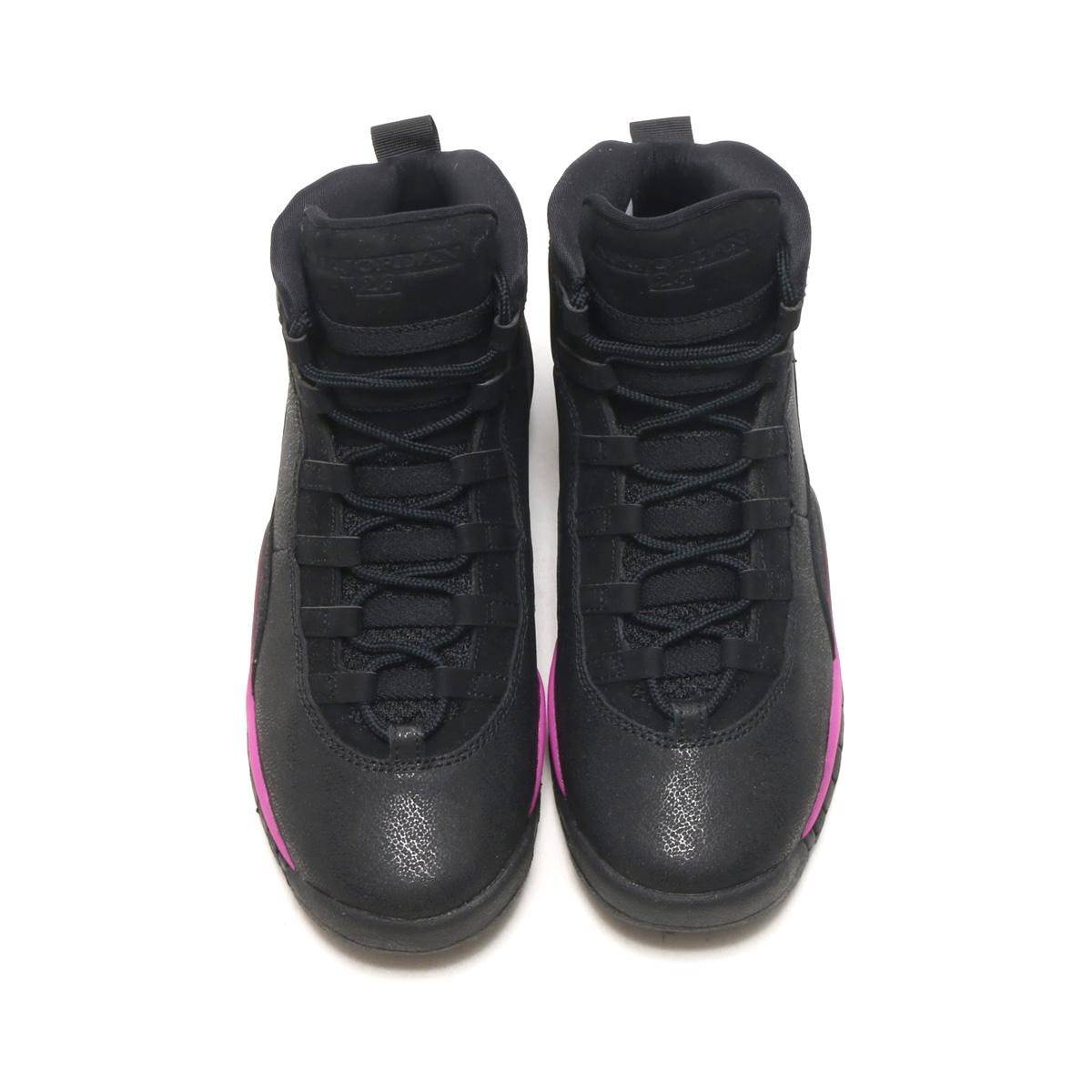 295eef0c9390 NIKE AIR JORDAN 10 RETRO GG (BLACK FUCHSIA BLAST-BLACK) (Nike Air Jordan 10  nostalgic GG)