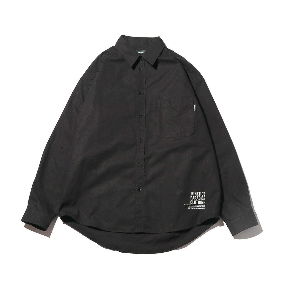 Kinetics Ripstop Big LS Shirt(BLACK)(キネティクス リップストップ ビッグ LSシャツ)【メンズ】【シャツ】【19SS-I】