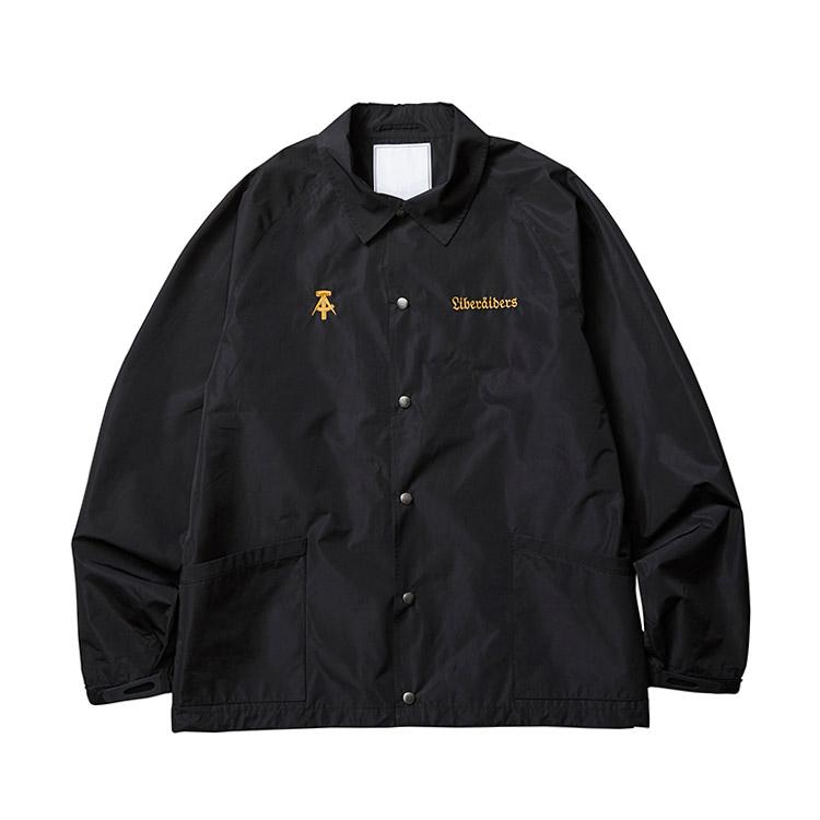 LIBERAIDERS QUADRIGA COACH JACKET(BLACK)(リベレイダース クアトリガ コーチジャケット)【メンズ】【ジャケット】【19FW-I】
