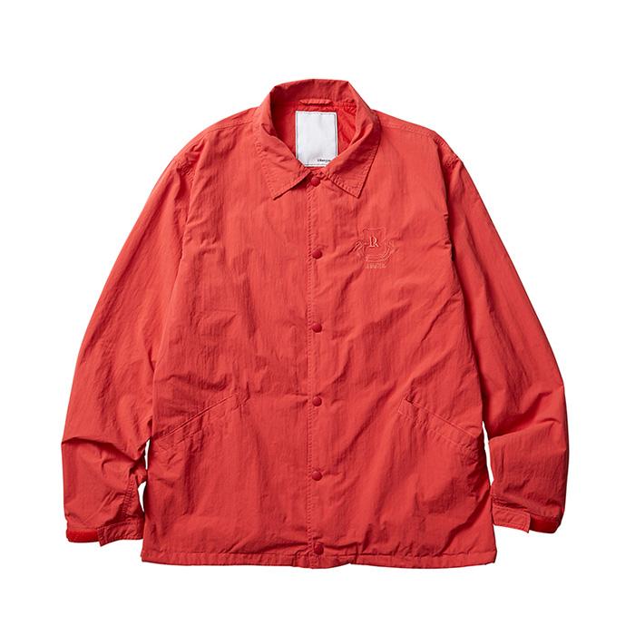LIBERAIDERS OVERDYED COACH JACKET(RED)(リベレイダース オーバーダイ コーチジャケット)【メンズ】【ジャケット】【19FW-I】