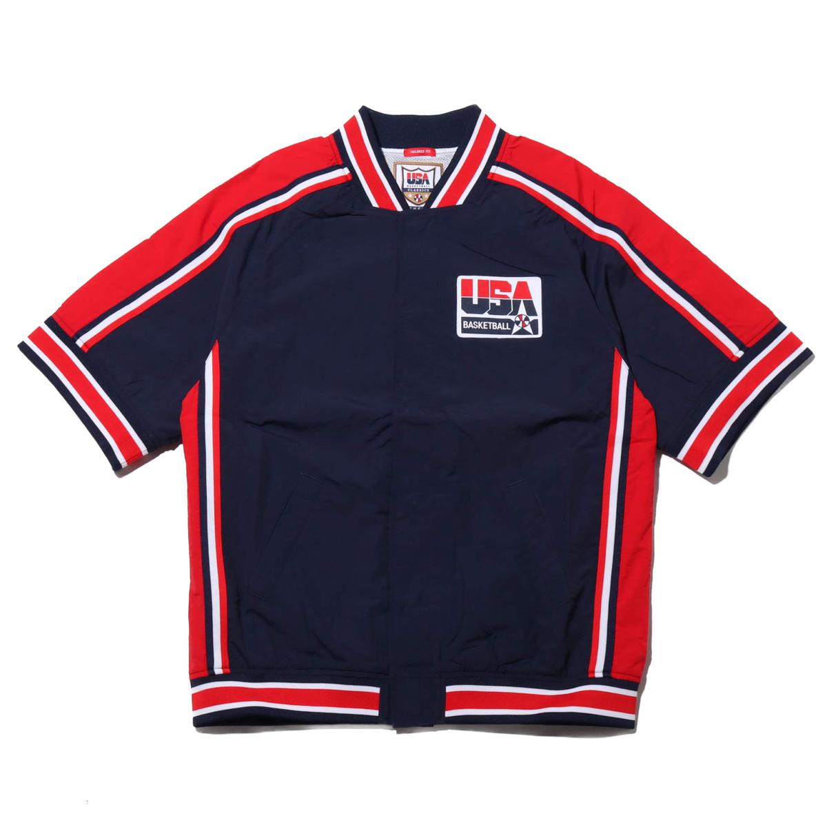 Mitchell & Ness Auth WU Jacket - USA92 M.Jordan(NAVY)(ミッチェルアンドネス マイケル・ジョーダン ウォーミングアップジャケット)【メンズ】【半袖Tシャツ】【19FW-I】