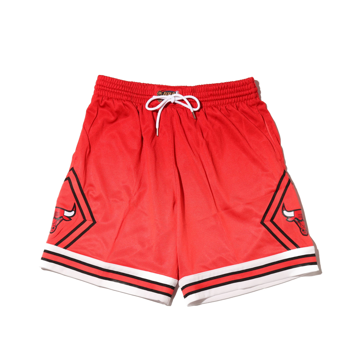Mitchell & Ness Old English Swingman Shorts C.Bulls(RED)(ミッチェルアンドネス オールドイングリッシュ ショーツ/シカゴブルズ)【メンズ】【ハーフパンツ】【19HO-I】