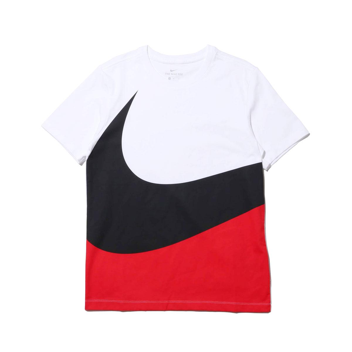 5315198f Kinetics: NIKE AS M NSW TEE HBR SWOOSH 1 (WHITE/UNIVERSITY RED/BLACK ...