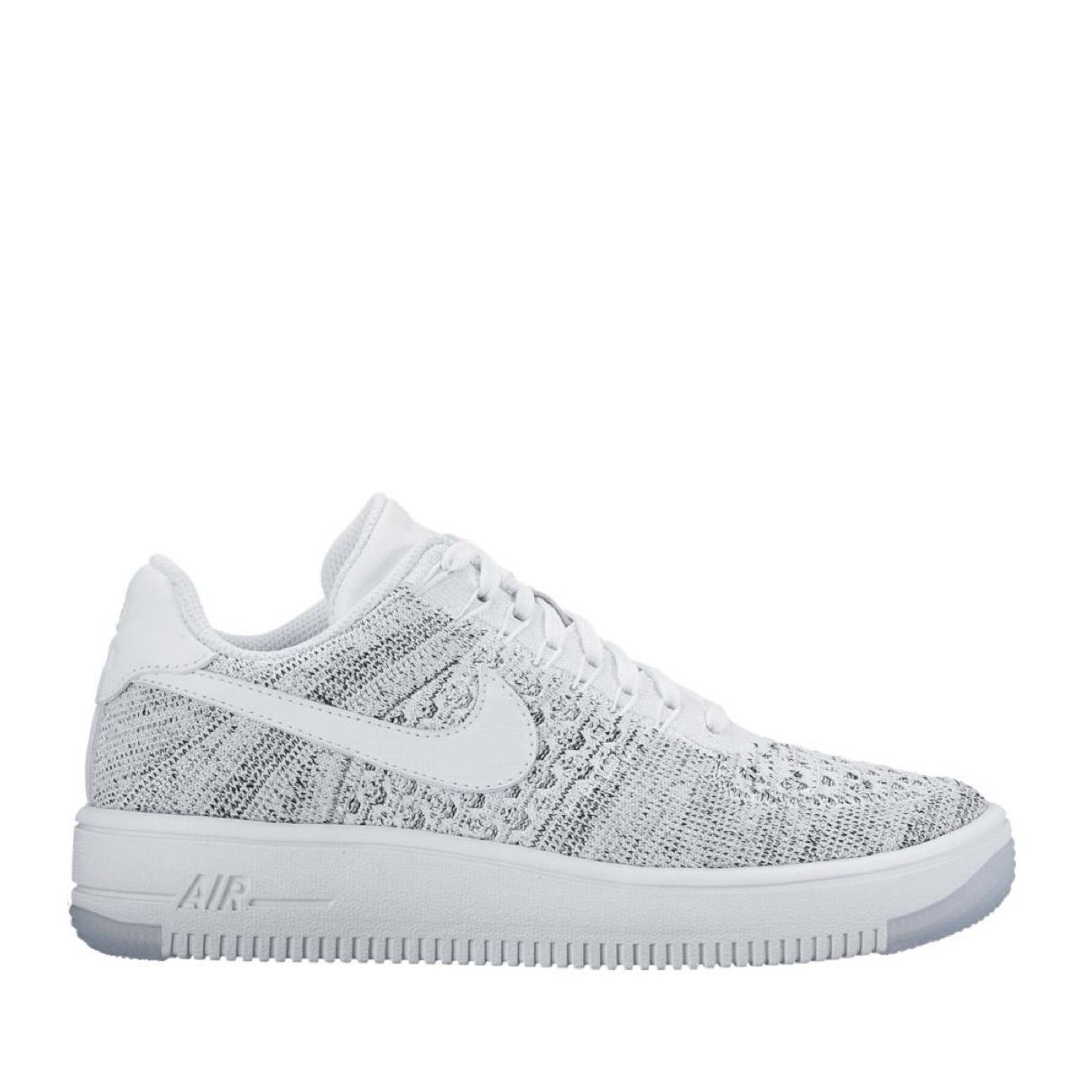 5fc25f81c84c30 Kinetics  NIKE W AF1 FLYKNIT LOW (WHITE WHITE-BLACK) (Nike women AF1 fly  knit low)