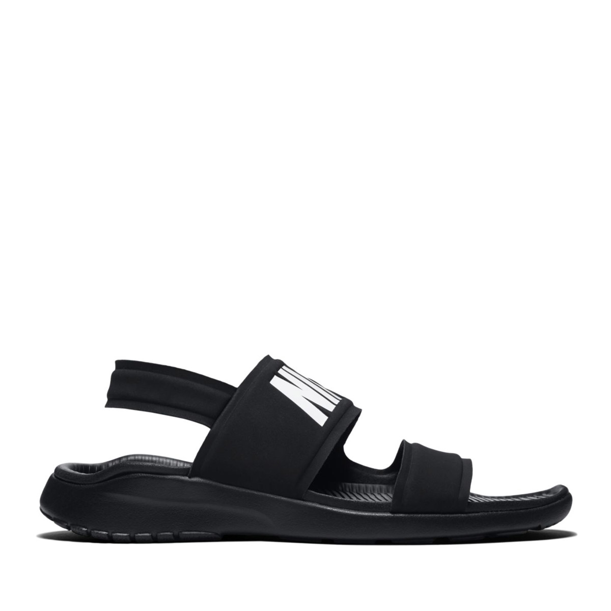fa6504680cf2 NIKE WMNS TANJUN SANDAL (BLACK WHITE-BLACK) (Nike women tongue Jun sandals)