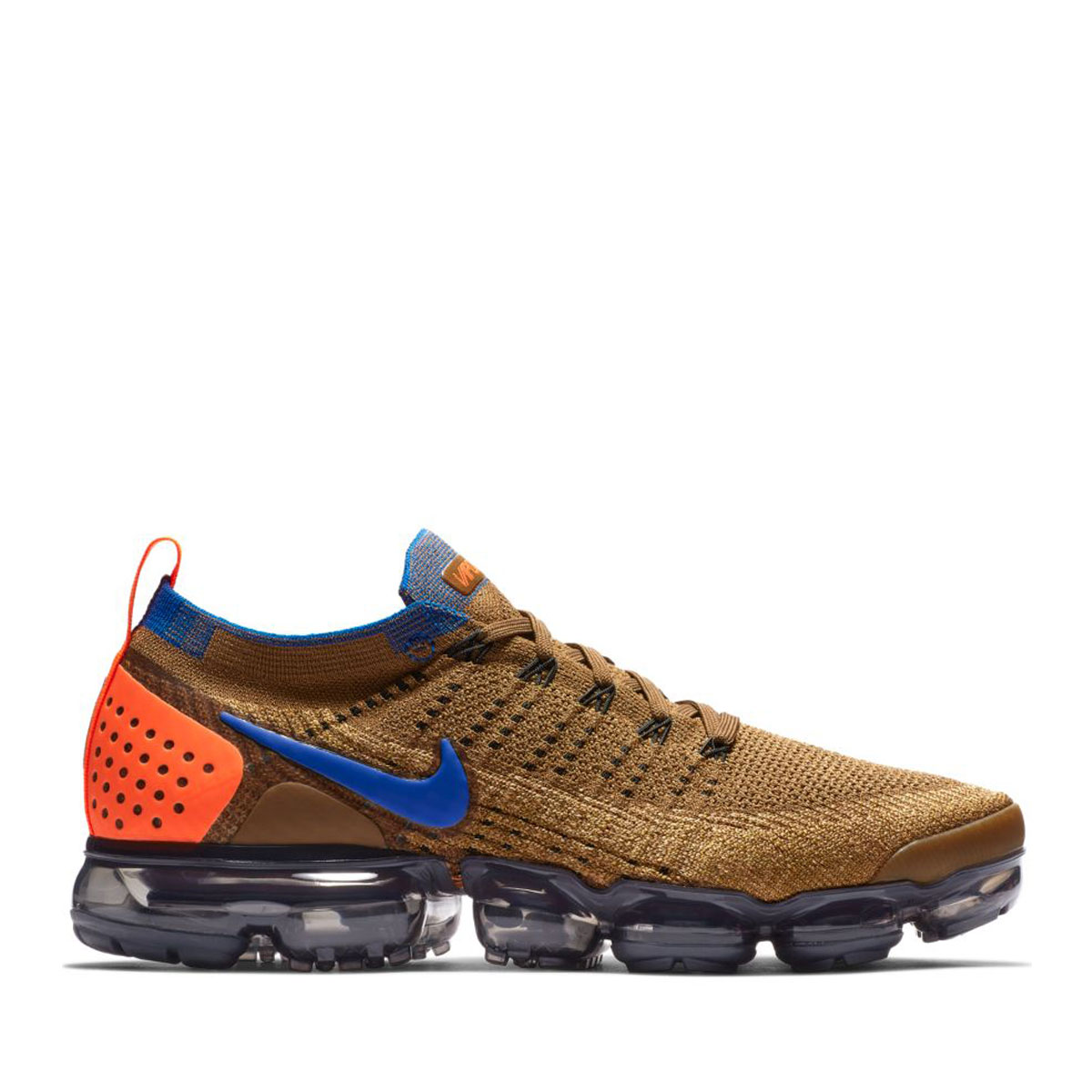 promo code f1186 be833 NIKE AIR VAPORMAX FLYKNIT 2 (GOLDEN BEIGE RACER BLUE-CLUB GOLD) (Nike air  vapor max fried food knit 2)